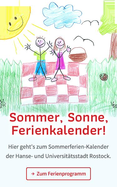 Hier geht's zum Sommerferien-Kalender der Hanse- und Universitätsstadt Rostock