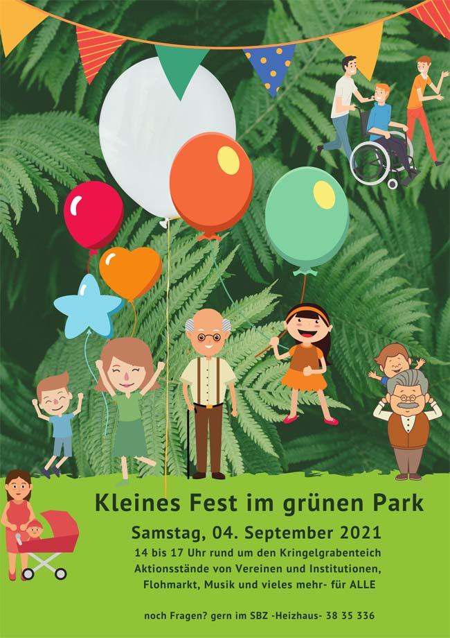 Kleines Fest im grünen Park